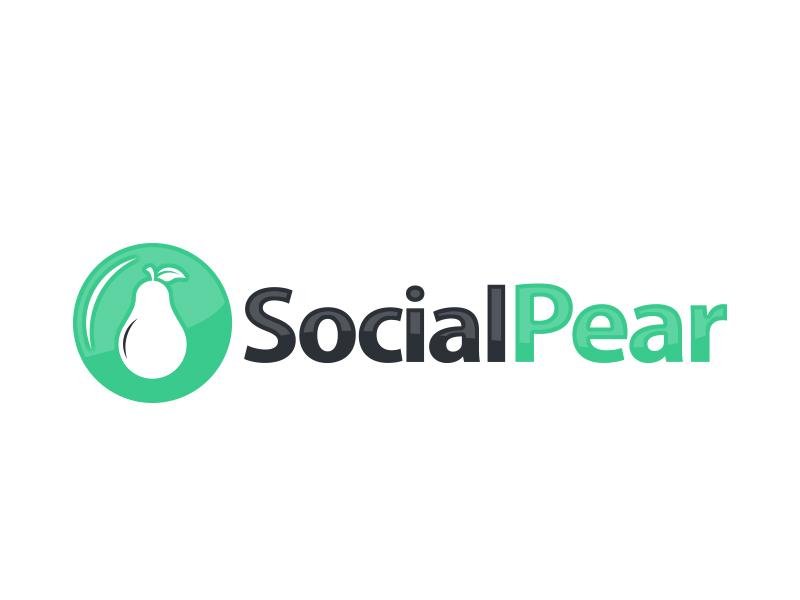 Social Pear logo design by MarkindDesign™