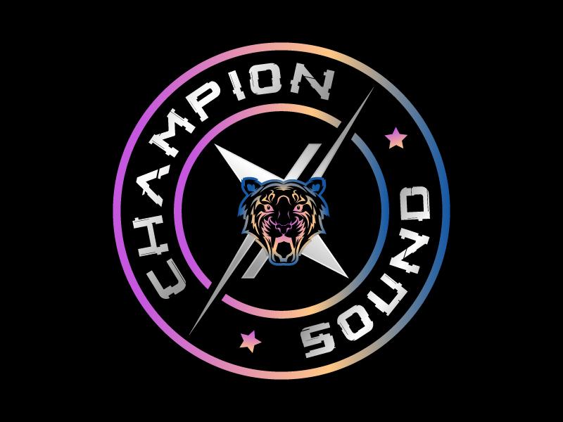 Champion X Sound logo design by MUSANG