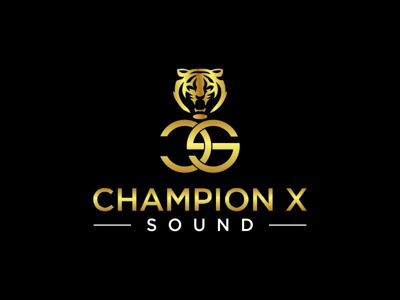 Champion X Sound logo design by oke2angconcept