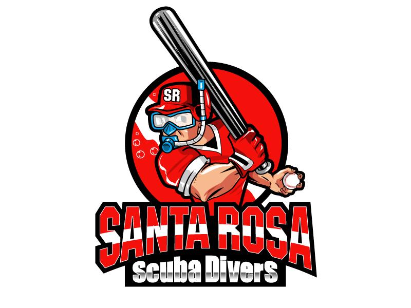 Santa Rosa Scuba Divers Logo Design