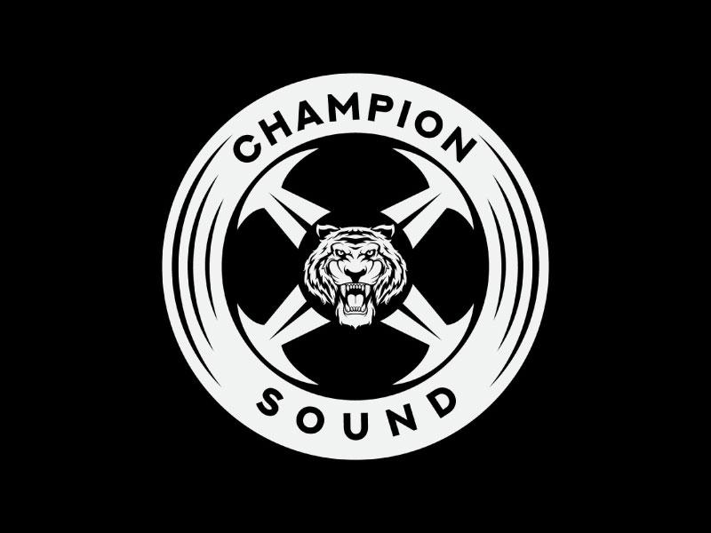 Champion X Sound logo design by T Maulana Assa