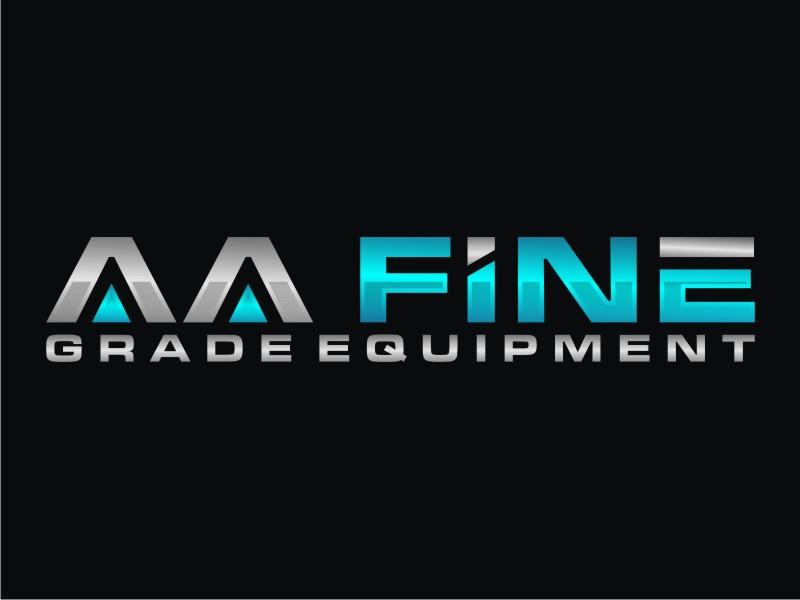AA fine grade equipment logo design by Arto moro