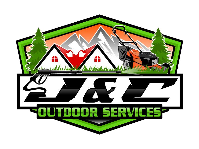 J&C OUTDOOR SERVICES Logo Design