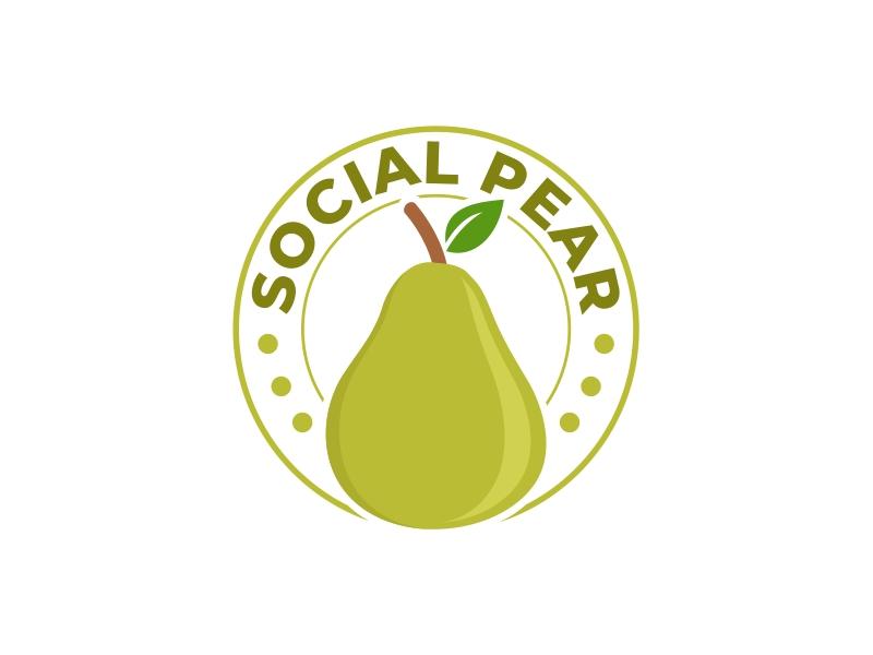 Social Pear logo design by mutafailan