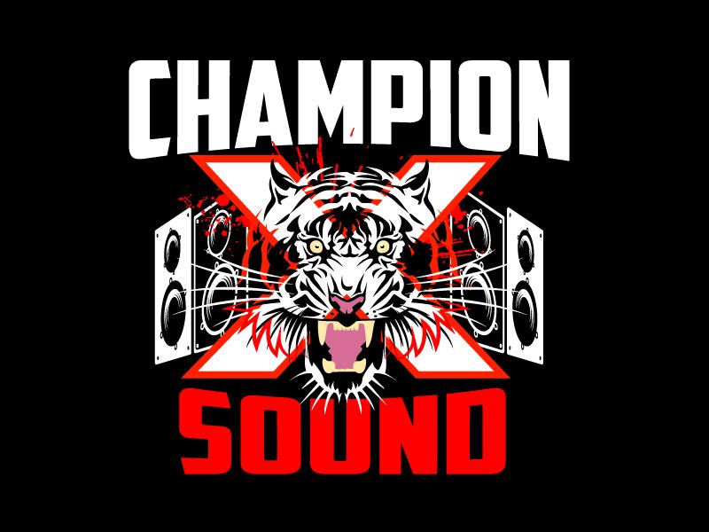 Champion X Sound logo design by aRBy