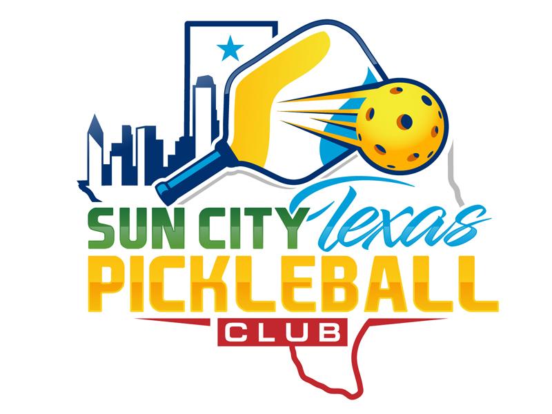 Sun City Texas Pickleball Club logo design by DreamLogoDesign