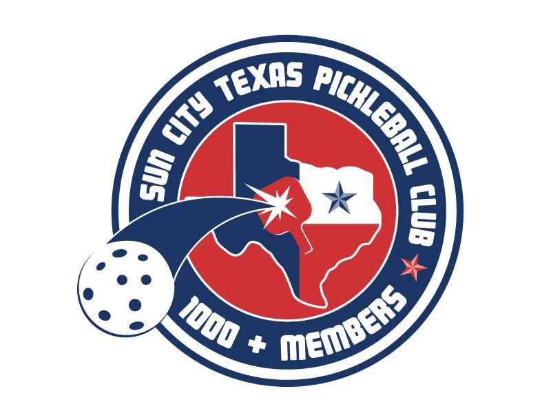 Sun City Texas Pickleball Club logo design by LogoQueen