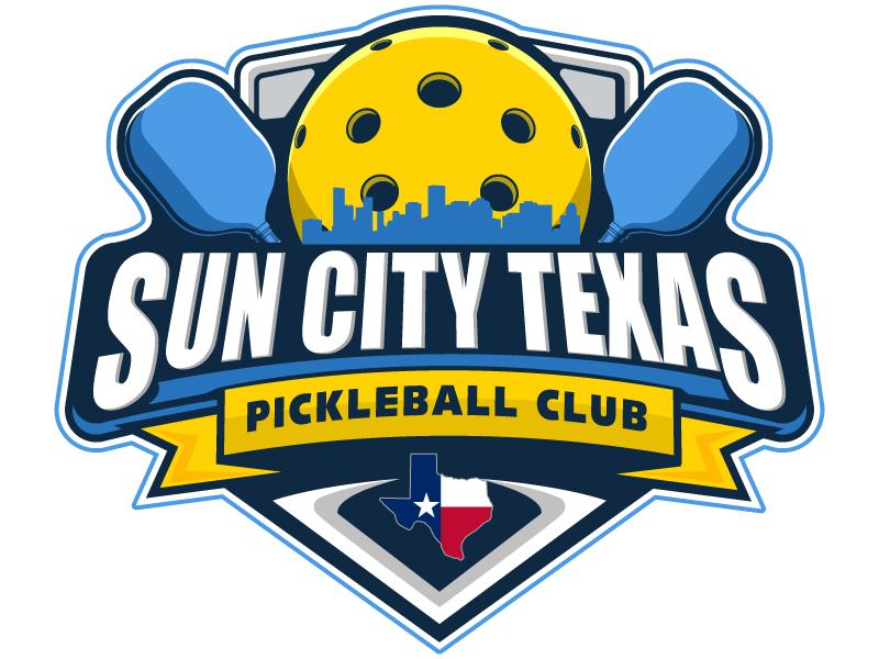 Sun City Texas Pickleball Club logo design by Suvendu