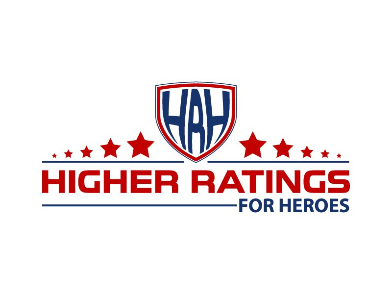 Higher Ratings For Heroes logo design by Shailesh