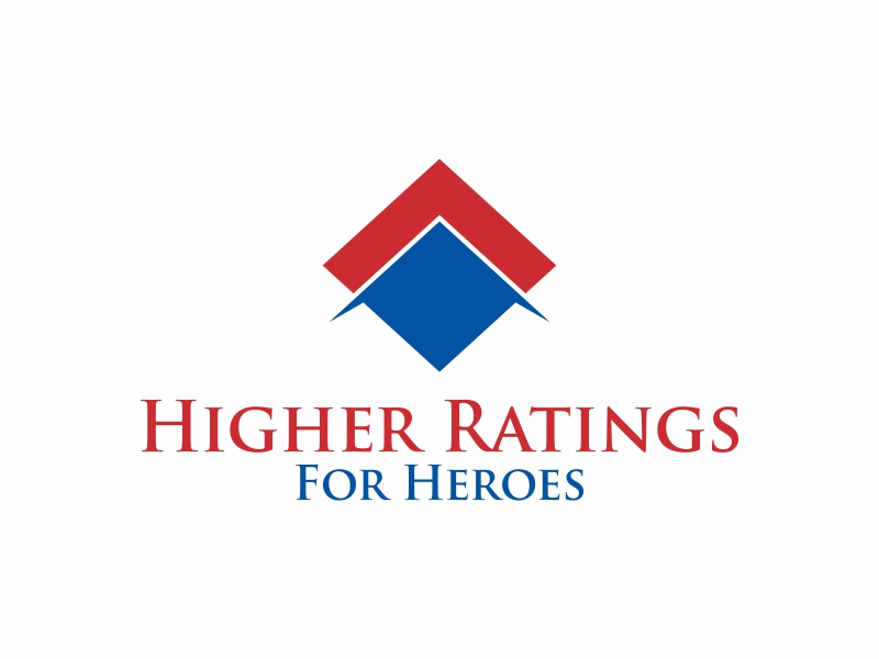 Higher Ratings For Heroes logo design by Greenlight