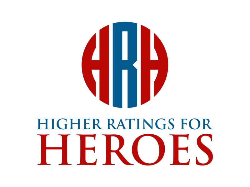 Higher Ratings For Heroes logo design by cintoko