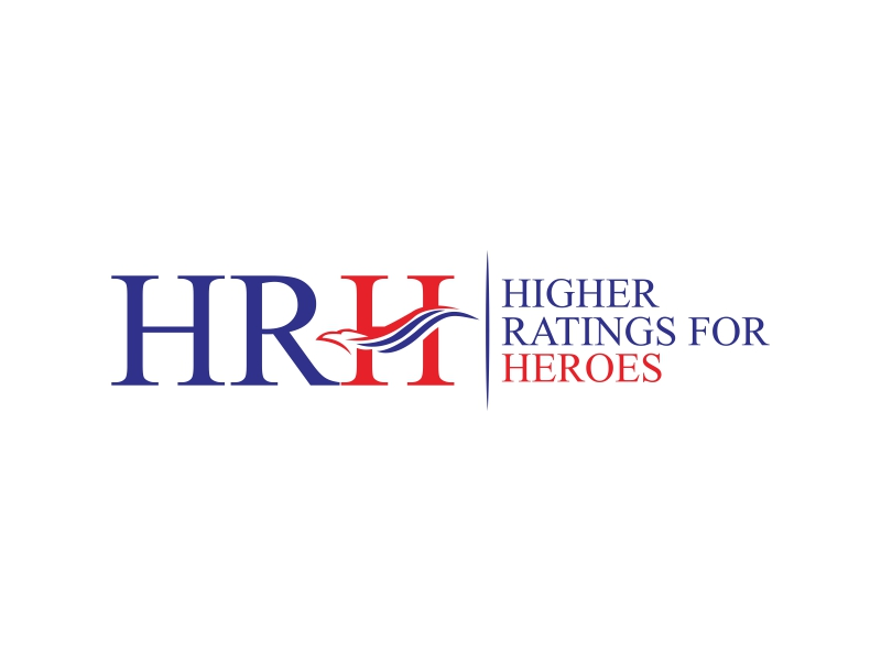 Higher Ratings For Heroes logo design by luckyprasetyo