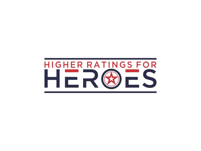 Higher Ratings For Heroes logo design by oke2angconcept
