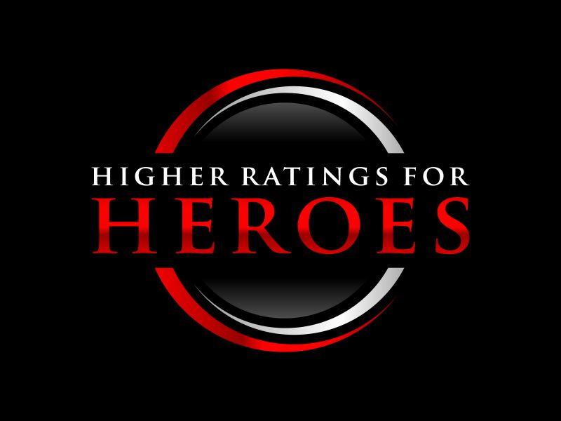 Higher Ratings For Heroes logo design by ubai popi