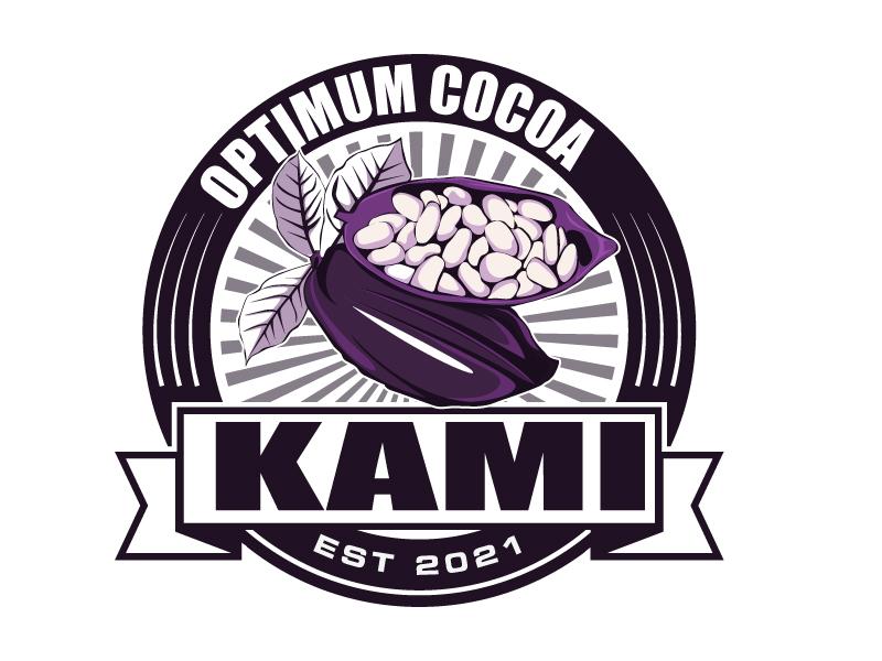 Kami Optimum Cocoa logo design by Suvendu