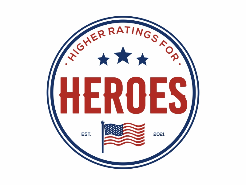 Higher Ratings For Heroes logo design by Mardhi