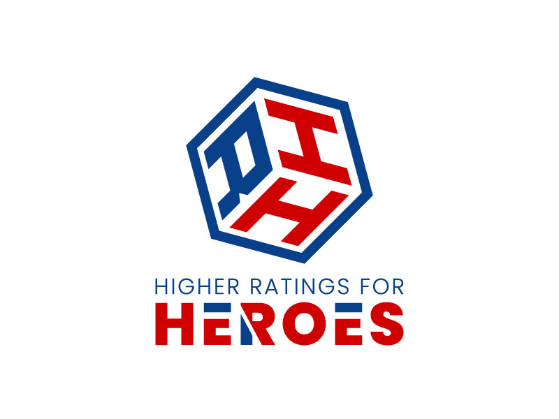 Higher Ratings For Heroes logo design by aryamaity