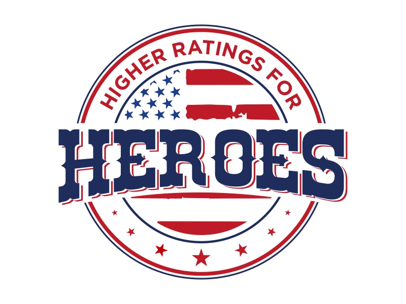 Higher Ratings For Heroes logo design by qqdesigns