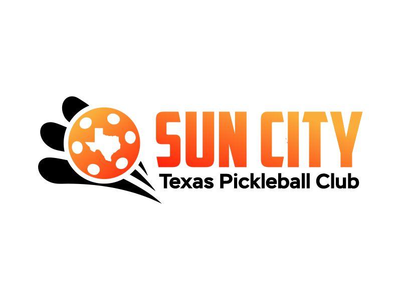 Sun City Texas Pickleball Club logo design by Gwerth