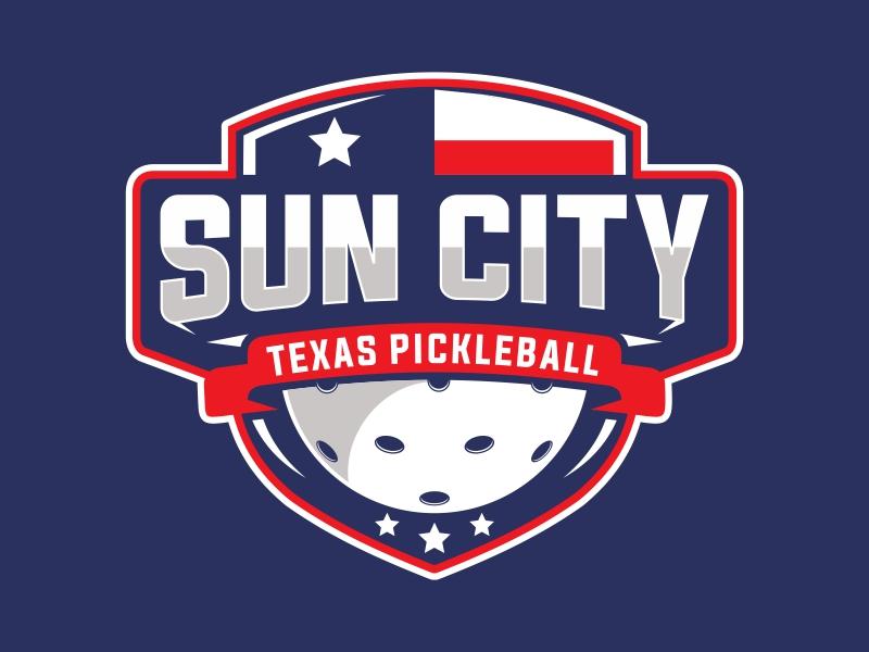 Sun City Texas Pickleball Club logo design by Mardhi