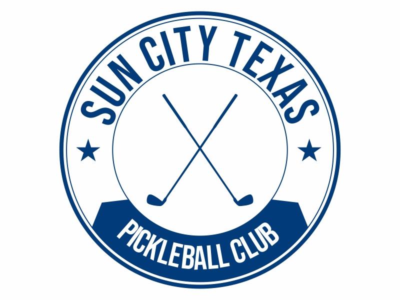 Sun City Texas Pickleball Club logo design by Greenlight