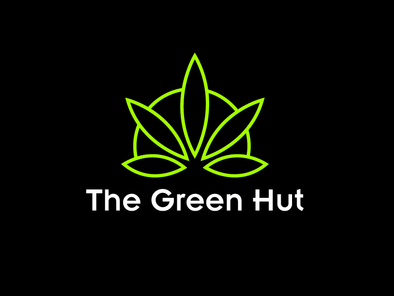 The Green Hut logo design by Marianne