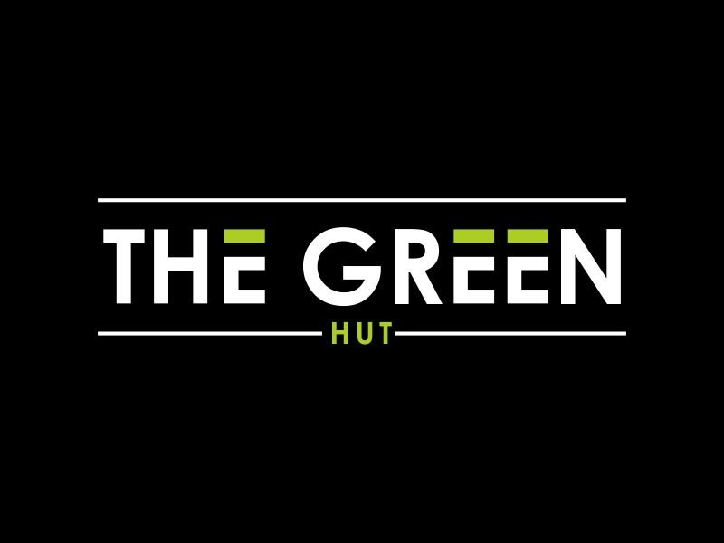 The Green Hut logo design by giphone