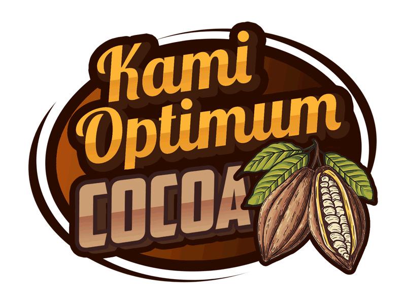 Kami Optimum Cocoa logo design by Bananalicious