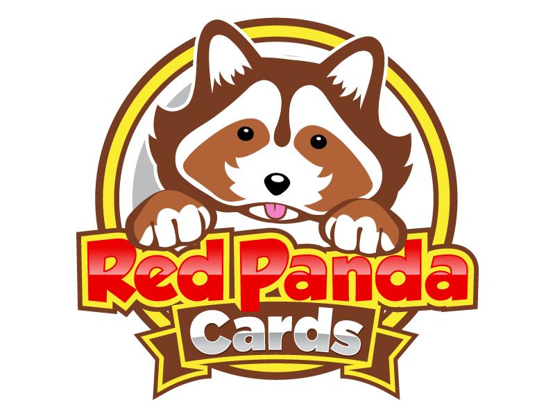 Red Panda Cards logo design by LucidSketch