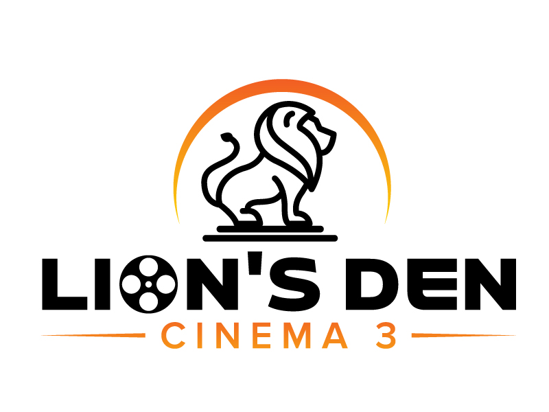 Lion's Den Cinema 3 logo design by jaize