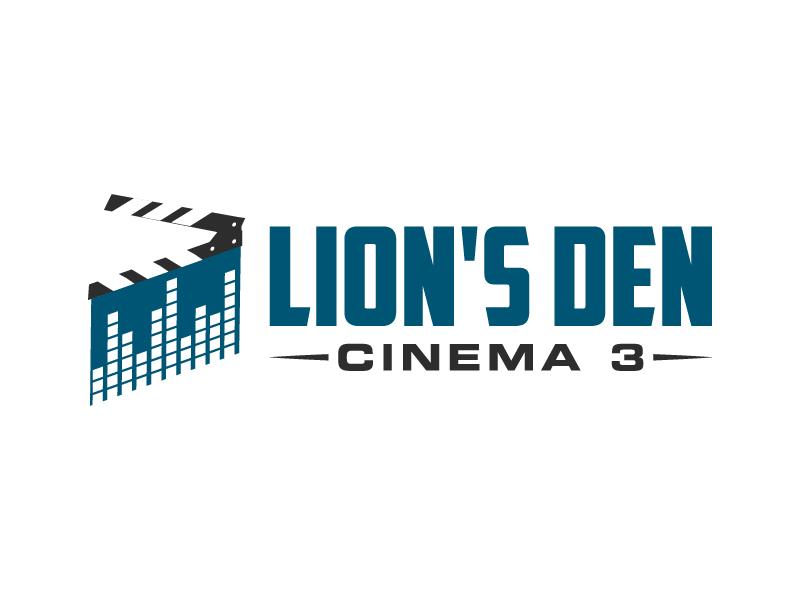 Lion's Den Cinema 3 logo design by karjen