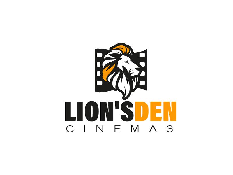 Lion's Den Cinema 3 logo design by fawadyk