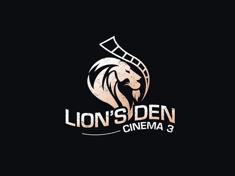 Lion's Den Cinema 3 logo design by LogoInvent