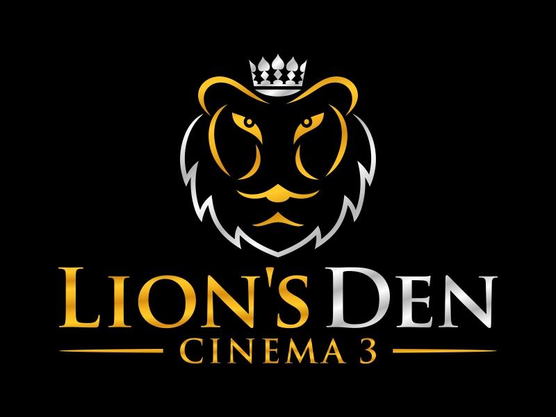 Lion's Den Cinema 3 logo design by FriZign