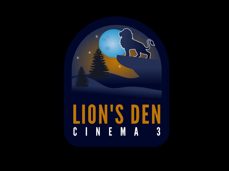 Lion's Den Cinema 3 logo design by czars