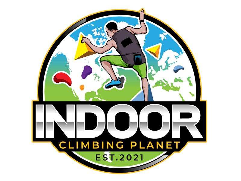 Indoor Climbing Planet logo design by DreamLogoDesign