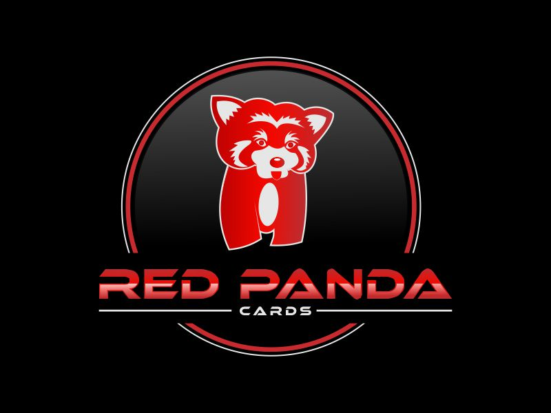 Red Panda Cards logo design by giphone
