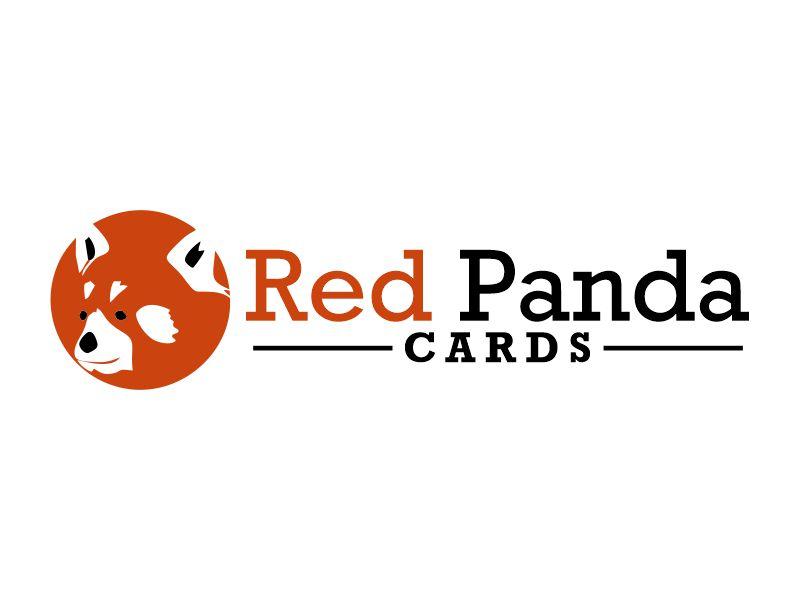 Red Panda Cards logo design by Gwerth