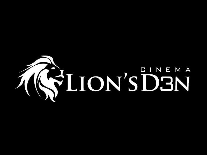 Lion's Den Cinema 3 logo design by Marianne