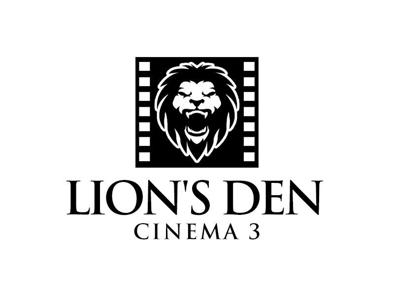 Lion's Den Cinema 3 logo design by kunejo