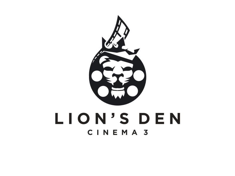 Lion's Den Cinema 3 logo design by maspion