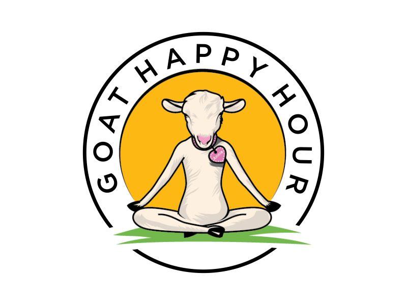 Goat Happy Hour Logo Design