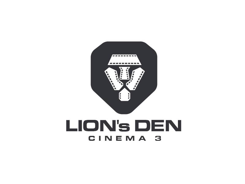 Lion's Den Cinema 3 logo design by usef44