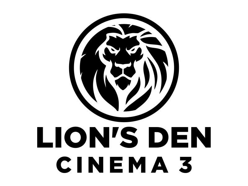 Lion's Den Cinema 3 logo design by MUNAROH