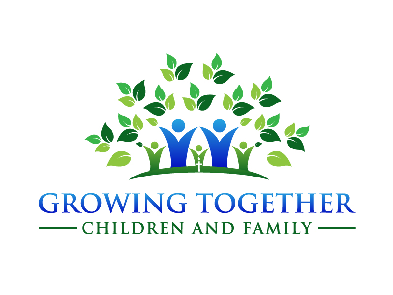 Growing Together Family & Children logo design by DreamCather