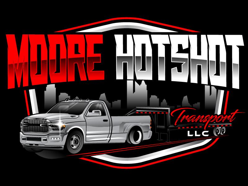 Moore Hotshot Transport LLC logo design by Suvendu