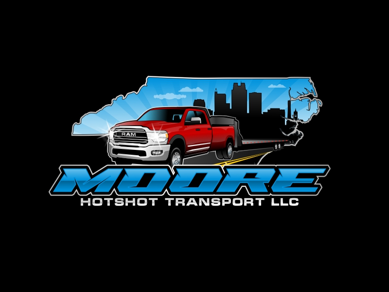 Moore Hotshot Transport LLC logo design by rizuki