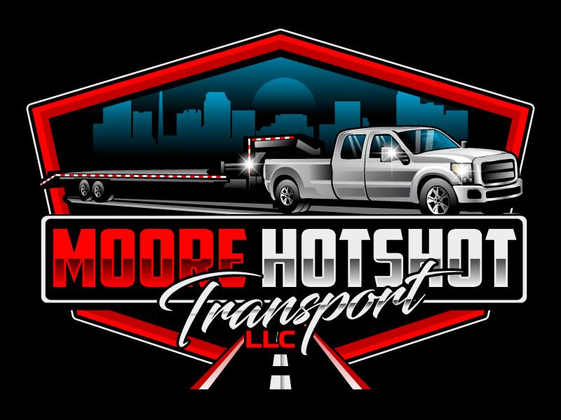 Moore Hotshot Transport LLC logo design by LogoQueen