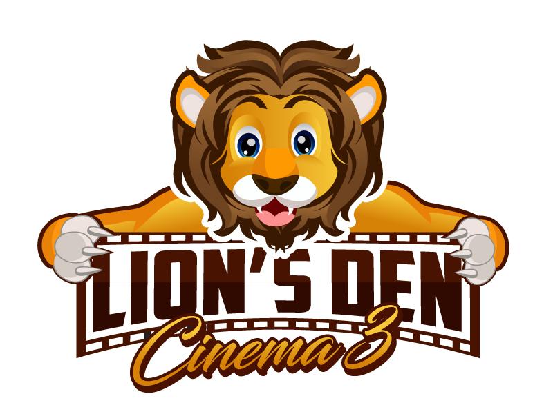 Lion's Den Cinema 3 logo design by LucidSketch