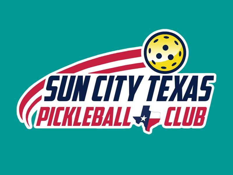 Sun City Texas Pickleball Club logo design by Bananalicious